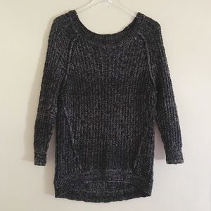 Free People Black / White  Knit Sweater S